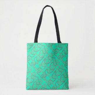 Bolsa Tote Design verde do teste padrão