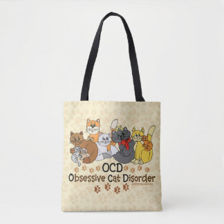 Bolsa Tote Desordem obsessiva do gato de OCD