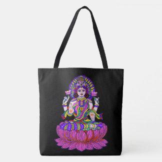 Bolsa Tote Deusa do festival de Lakshmi Diwali da boa fortuna