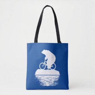 Bolsa Tote DIA DA TERRA: Sacola reusável da bicicleta do urso