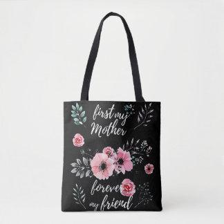 Bolsa Tote Dia das mães feliz - primeiramente minha mãe