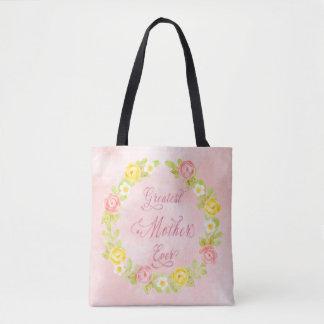 Bolsa Tote Dia das mães - rosas bonito da aguarela 2 WA