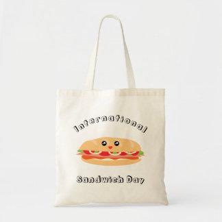 Bolsa Tote Dia internacional do sanduíche