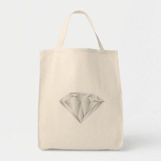 Bolsa Tote Diamante branco para meu querido