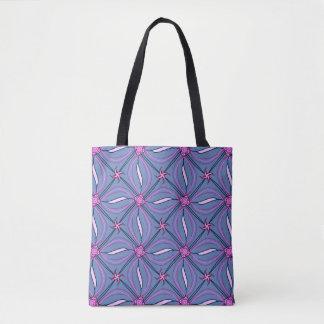 Bolsa Tote Diamantes cor-de-rosa e azuis à moda