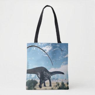 Bolsa Tote Dinossauro do Apatosaurus no deserto - 3D rendem
