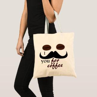 Bolsa Tote Divertimento legal mim bigode você para o café