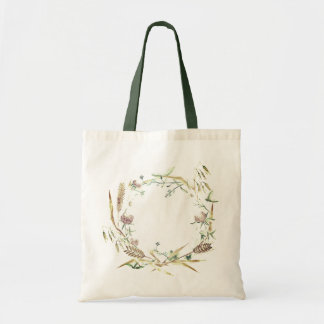 "Bolsa Tote Do ""design da grinalda Wildflower"" da sacola"