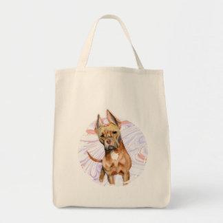 """Bolsa Tote Do """"orelhas coelho"""" pintura da aguarela do cão de"""