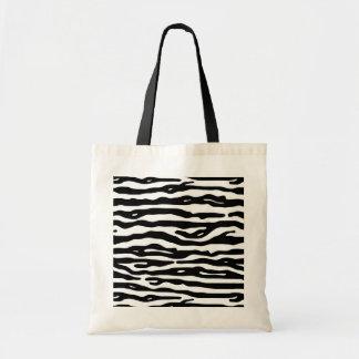 Bolsa Tote Do preto animal do impressão da zebra teste padrão