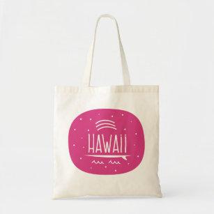 """Bolsa Tote Do """"saco de Havaí da prancha arco-íris"""""""
