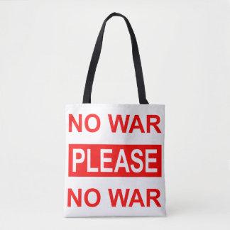 Bolsa Tote Do sem guerra sacola por favor -