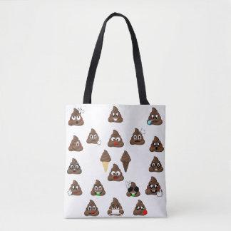 Bolsa Tote Do tombadilho de Emojis sacola abundante
