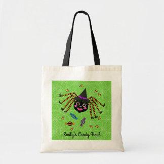 Bolsa Tote Doçura ou travessura personalizada bruxa da aranha