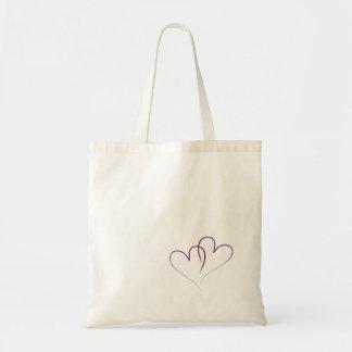 Bolsa Tote Dois corações entrelaçados