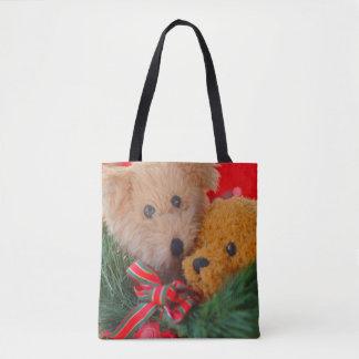 Bolsa Tote Dois ursos de ursinho com hortaliças e arco