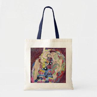 Bolsa Tote Donzela (Virgin), Gustavo Klimt, arte Nouveau do