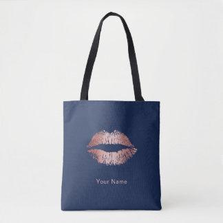 Bolsa Tote Dos lábios cor-de-rosa do ouro do maquilhador