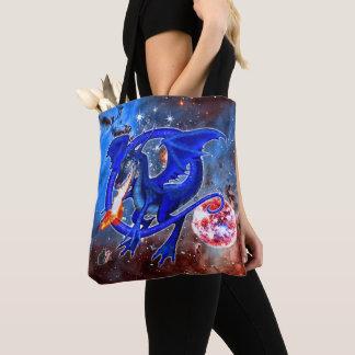 Bolsa Tote Dragão cósmico de Azurite