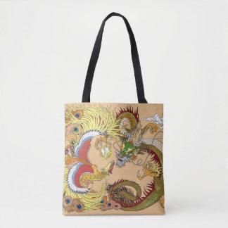 Bolsa Tote Dragão e phoenix chineses