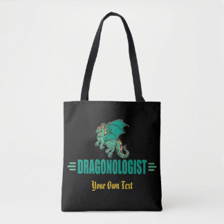 Bolsa Tote Dragão verde da fantasia
