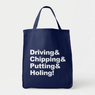 Bolsa Tote Driving&Chipping&Putting&Holing (branco)