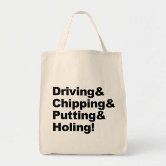 Bolsa Tote Driving&Chipping&Putting&Holing (preto)