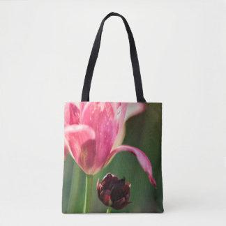 Bolsa Tote Duas flores da tulipa
