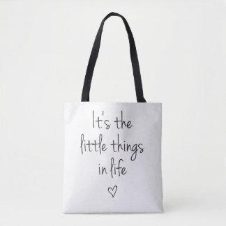 Bolsa Tote É a sacola pequena das coisas
