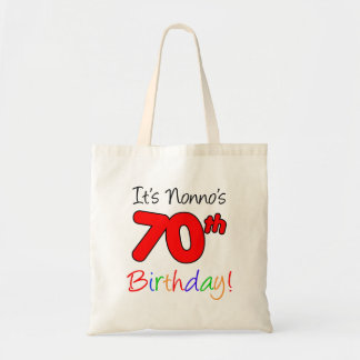 Bolsa Tote É divertimento do aniversário do 70 de Nonno e o