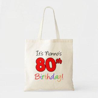 Bolsa Tote É divertimento do aniversário do 80 de Nonno e o