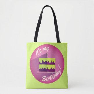 Bolsa Tote É meu saco do bolo de aniversário por Aleta