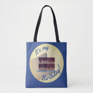 Bolsa Tote É meu saco do bolo de chocolate do aniversário por