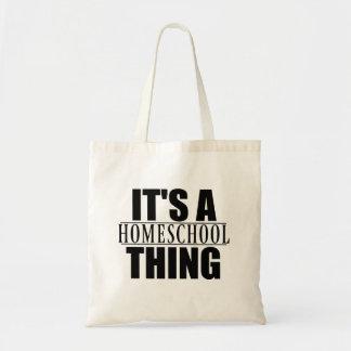 Bolsa Tote É uma sacola da coisa de Homeschool