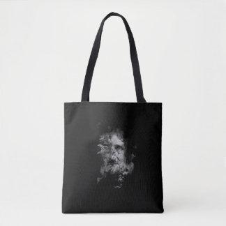 Bolsa Tote Edgar Allan Poe no fumo com corvo - nunca mais