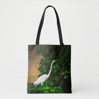 Bolsa Tote Egret que come vegetarianos, em uma sacola