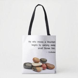Bolsa Tote Ele que move uma montanha… - Confucius