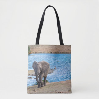 Bolsa Tote Elefante no lago