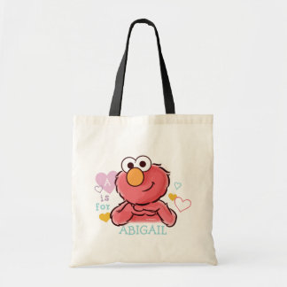 Bolsa Tote Elmo adorável   adiciona seu próprio nome