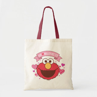 Bolsa Tote Elmo   meu coração pertence a Elmo