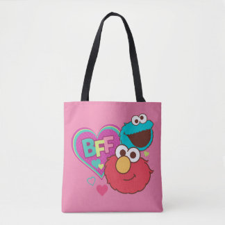Bolsa Tote Elmo & monstro do biscoito - BFF