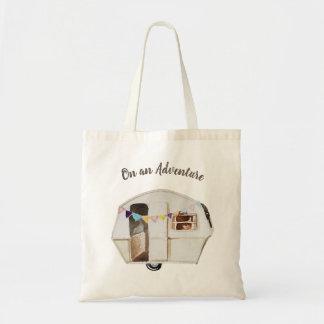 Bolsa Tote Em uma sacola do campista do vintage da aventura |