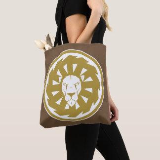 Bolsa Tote Emblema do leão do ouro
