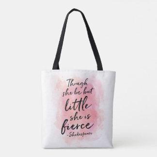 Bolsa Tote Embora seja mas pouca sacola diária cor-de-rosa