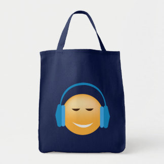 Bolsa Tote Emoji com fones de ouvido