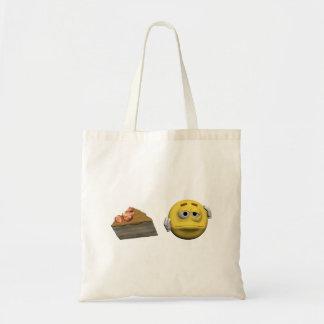 Bolsa Tote Emoticon doente amarelo ou smiley