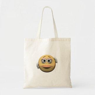 Bolsa Tote Emoticon fêmea pesaroso