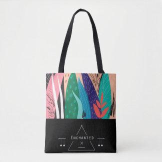 "Bolsa Tote ""Enchanted"" arte japonesa a sacola inspirada"