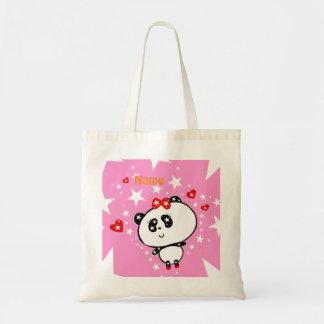 Bolsa Tote Engraçado bonito dos ursos de panda personalizado