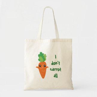 Bolsa Tote Engraçado eu não faço cenoura todos os desenhos